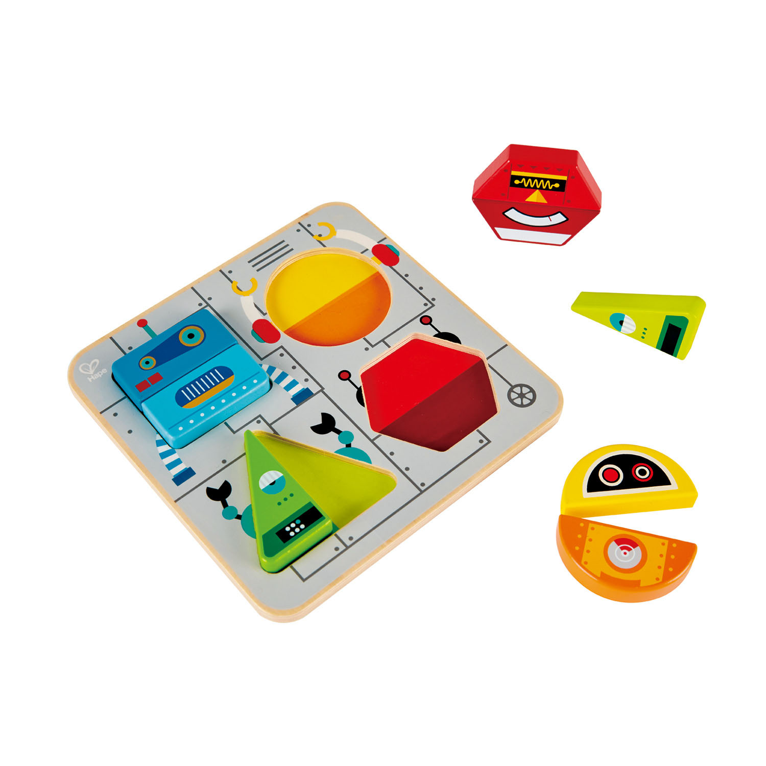 Robot Sort Amp Stand Up Puzzle E0446 Hape Toys