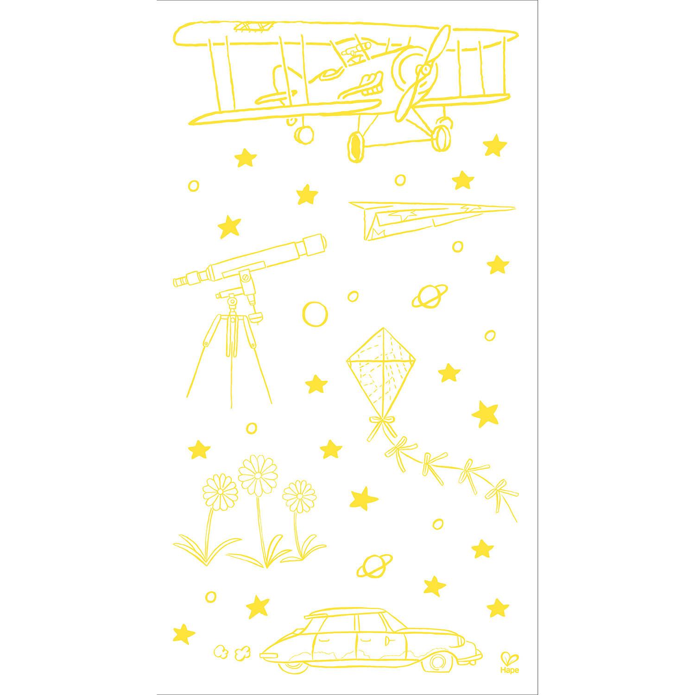 Autocollants muraux lumineux 824788 hape toys for Autocollants muraux