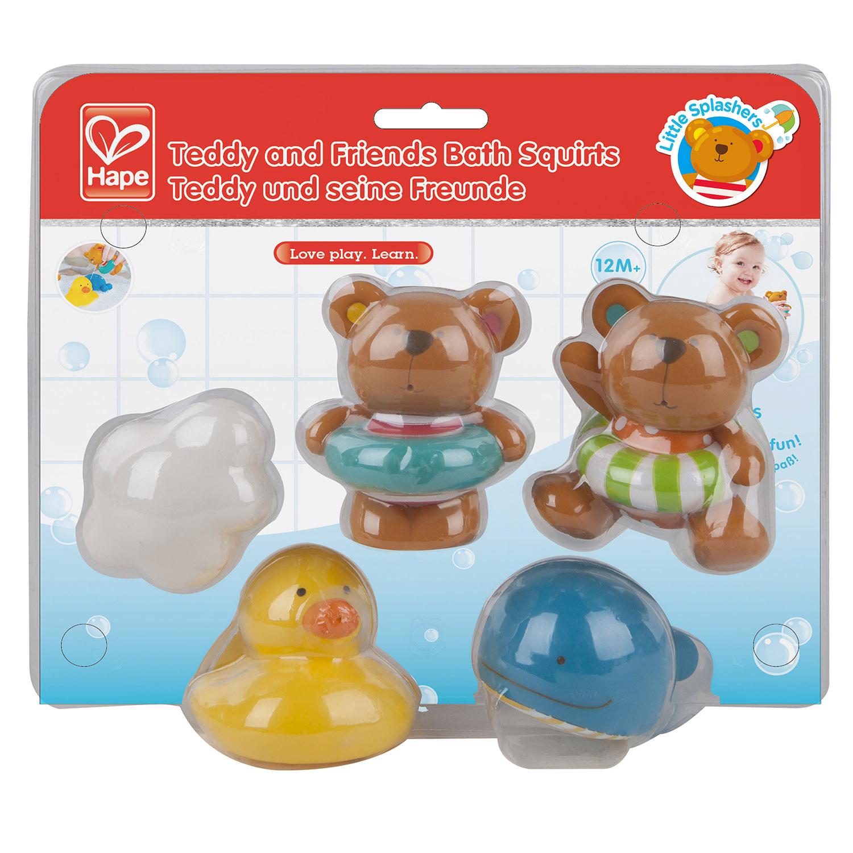 Teddy And Friends Bath Squirts E0201 Hape Toys