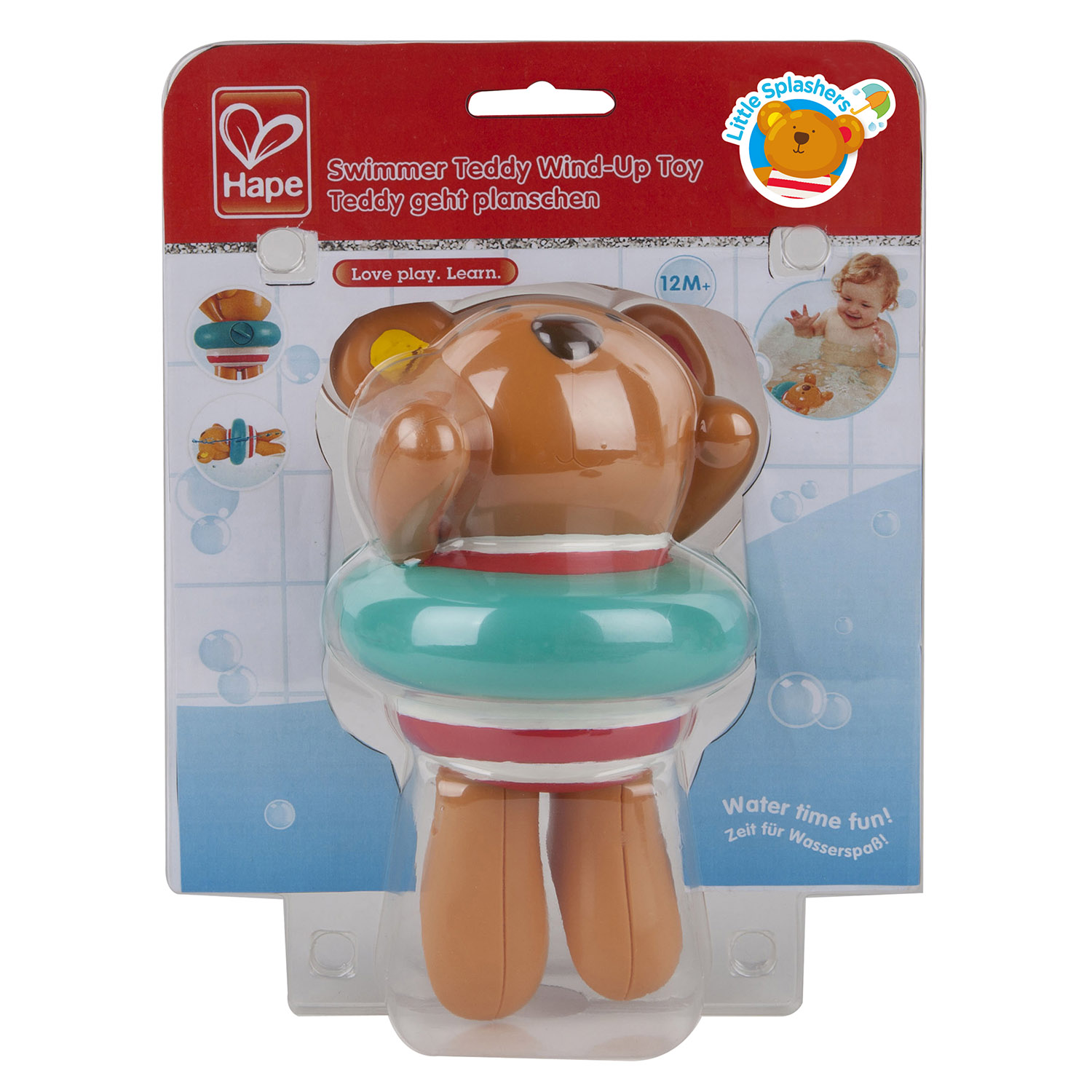 Swimmer Teddy Wind Up Toy E0204