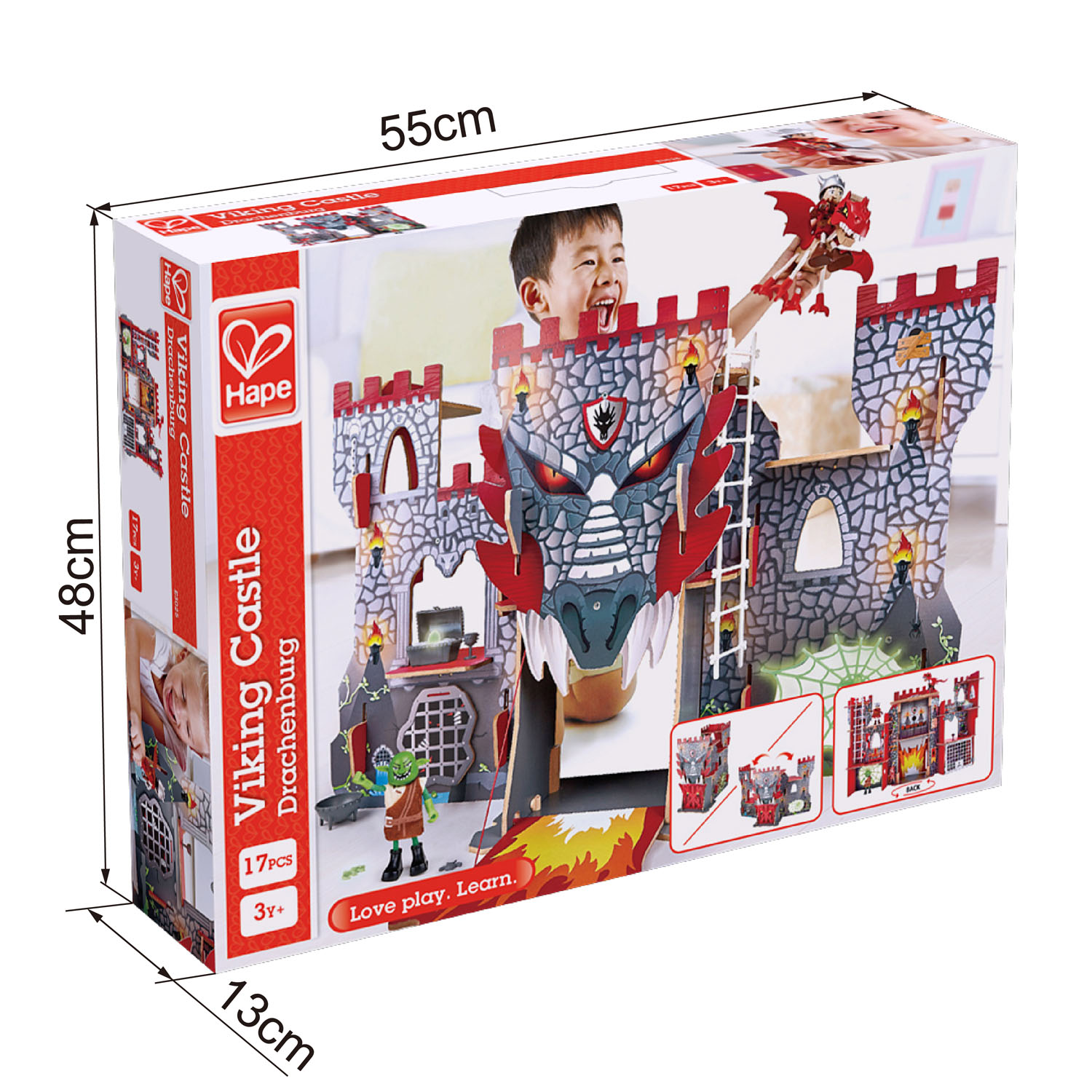Viking Castle E3025 Hape Toys