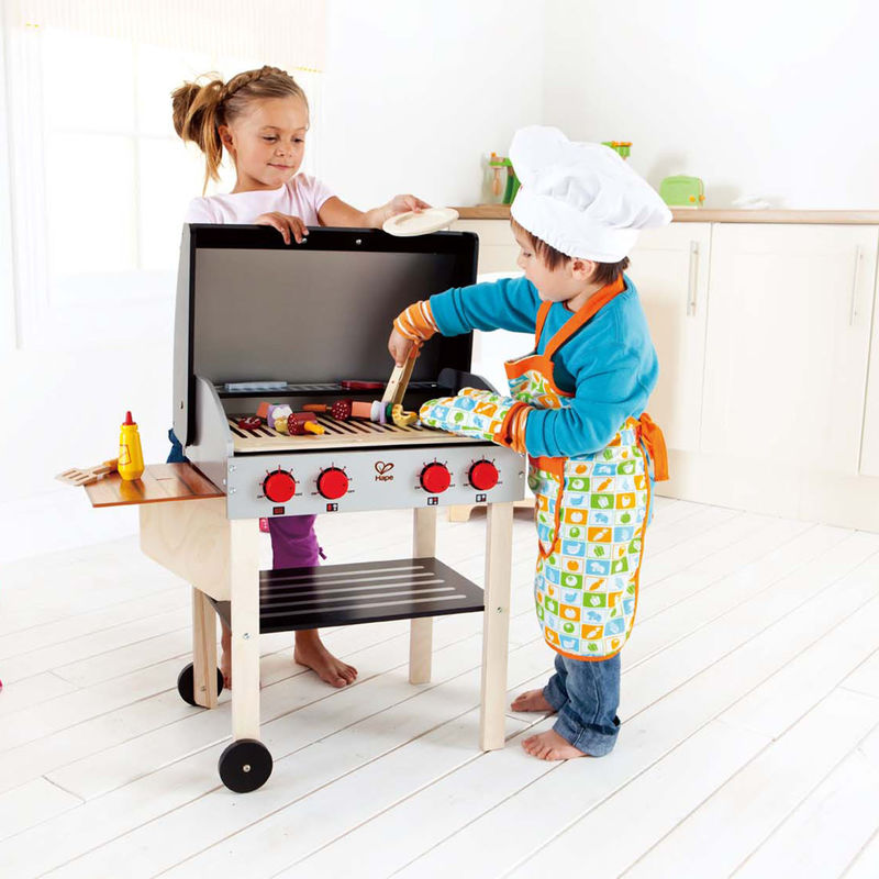 Gourmet Grill With Food E3127 Hape Toys