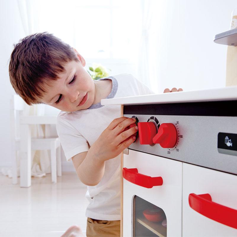 Hape Gourmet Küche | Weisse Gourmet Kuche E3152 Hape Toys