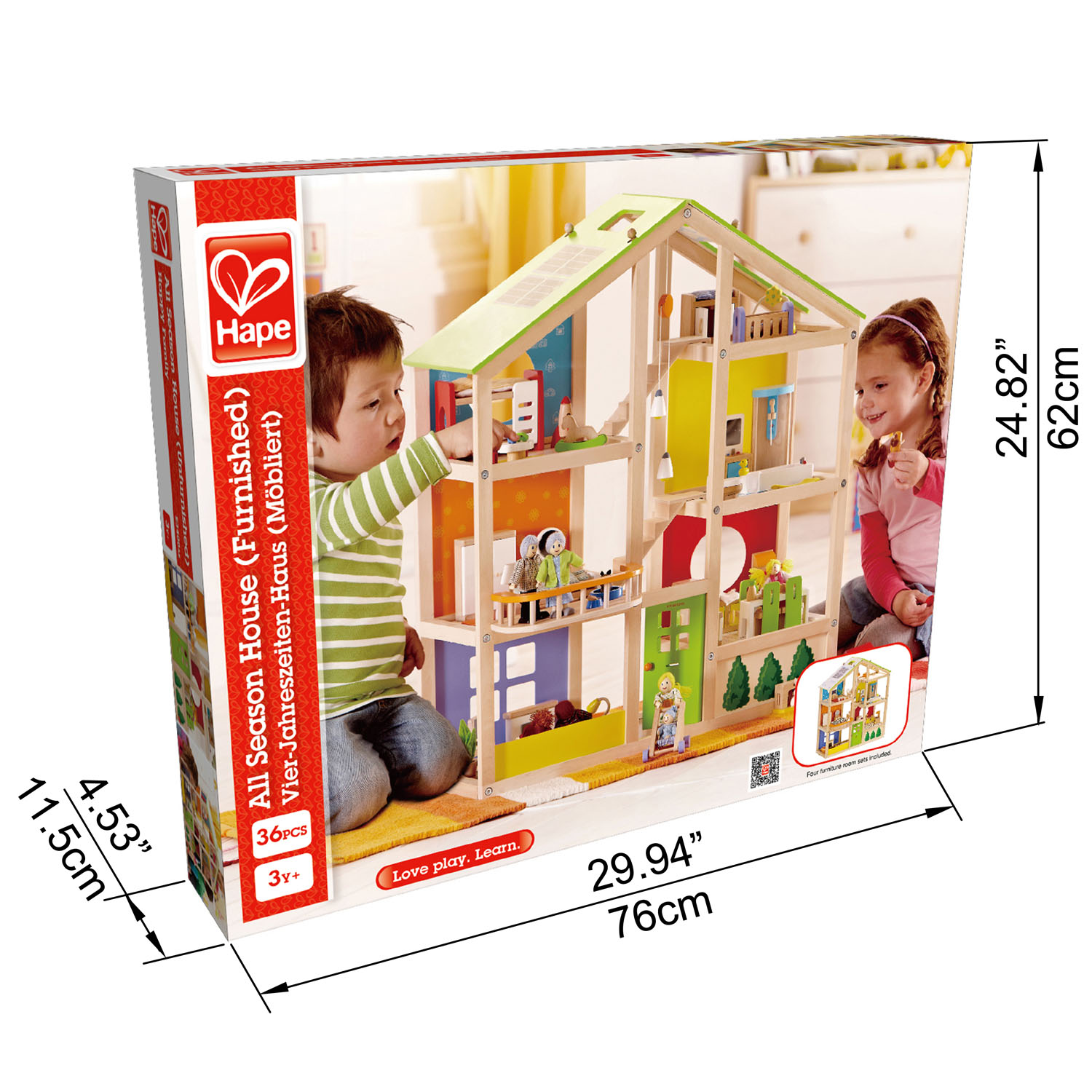 All Season House Furnished E3401 Hape Toys
