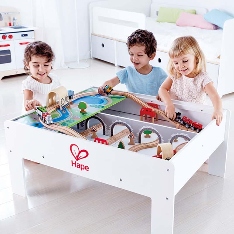 Reversible Train Storage Table E3714 Hape Toys