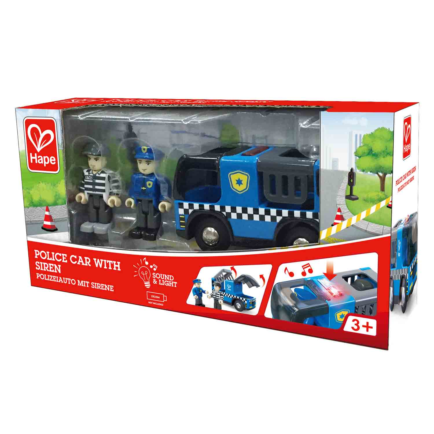Police Car With Siren E3738 Hape Toys