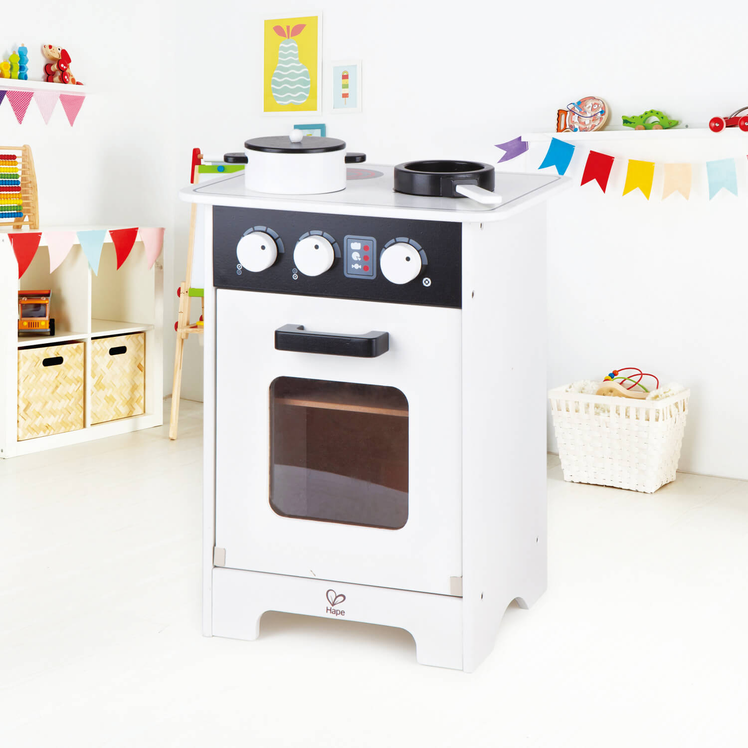 Mini Black White Gourmet Kitchen Hape