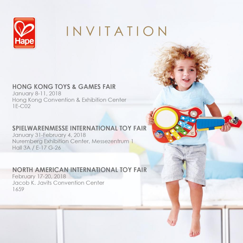 Invitación al Global Show Tour 2018 de Hape