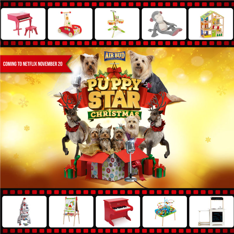 Santa's Workshop Features Hape Toys in New Puppy Star Christmas Movie